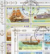 1+5 Schiffe 1984 Sao Tome 920/3+906/8 KB O 40€ Raddampfer Phönix Dampfer Hb Blocs Ship Sheetlets Bf St.Thomas-Insel - Sao Tome And Principe