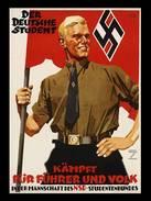 Militaria WW2 - Photo Affiche Propagande Allemande - Der Deutsche Student - 1939-45
