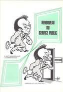 """CP POLITIQUE SATIRIQUE Syndicat FO FGF """"RENOUVEAU DU SERVICE PUBLIC"""" DURAFOUR ROCARD Salaire Emplois - Satiriques"""