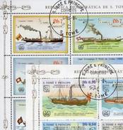 2+3 Schiffe 1984 Sao Tome 912/5+909/1 KB O 30€ Dampfer Schaffhausen Suisse Blocs Ships Sheetlets Bf St.Thomas-Insel - Sao Tome Et Principe