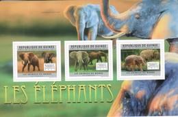 Guinea 2011 Block 3x Elephants Elefanten - Guinée (1958-...)