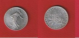 Semeuse  --  2 Francs 1904  -- état  TB - France