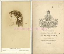 CDV Jolie Adelina Patti De Profil -artiste-cancatrice-par Reutlinger - Fotos