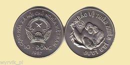 VIETNAM 1987 Orangutan 10 Dong UNC - Viêt-Nam