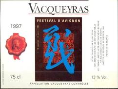 580 - France - Vacqueyras - Spéciale Festival D'Avignon 1998 - Pour Délégation Taïwan Invitée Du Festival 1998 - Côtes Du Rhône