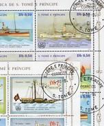 1+3 Schiffe 1984 Sao Tome 912/5+906/8 KB O 30€ Segel-Dampfer Gallen Suisse Blocs Ships Sheetlets Bf St.Thomas-Insel - Sao Tome Et Principe