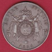 France 5 Francs Napoléon III - Tête Nue 1856 A - J. 5 Francs