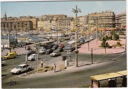 Marseille: ROVER SD1, RENAULT 4 & 4-COMBI, CITROËN CX, MERCEDES W114, PEUGEOT 404 & 204, AUTOBUS  - Le Quai Des Belges - PKW