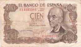 ESPAGNE   100 Pesetas   17/11/1970 (1974)   P. 152a - [ 3] 1936-1975 : Regency Of Franco