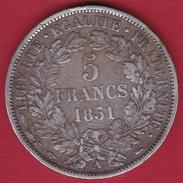France 5 Francs Cérès 1851 A - J. 5 Francs