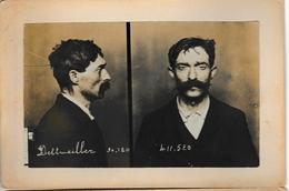Photographie D'identité Judiciaire (two Part Mug Shot) Dettweiller , Membre De La Bande à Bonnot - Photos