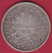 France 5 Francs Hercule 1873 K - J. 5 Francs