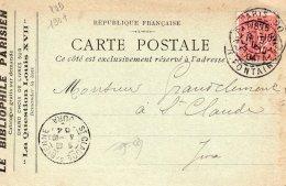 """CPA   75  """"  CARTE LETTRE  ? """"  """" LE BIBLIOPHILE PARISIEN, H.DARAGON, 30 , RUE DUPERRE  PARIS-IX---1904 - Paris (09)"""