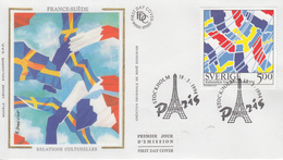 Enveloppe  FDC  1er Jour    SUEDE   Emission  Commune  Avec  La   France     1994 - FDC