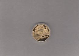 Estonia Replica Of 1930  2 Krooni TOOMPEA Coin,gold Plated,unopened With A Certificate - Estonia