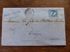 LAC Avec N° Vierzon A Paris ,cachetparis A Vierzon - Postmark Collection (Covers)
