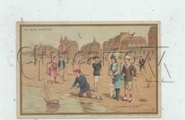 Villers-sur-mer (14)  : Jeu De Plage Chromo Du Bon Marché En 1885 (animé) - Altri
