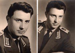 2 Photos Originales Militaire - Portrait D'un Jeune Soldat - Guerre, Militaire