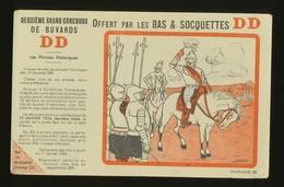 Buvard -  DD - Bas Et Soquettes - Phrase D - Buvards, Protège-cahiers Illustrés
