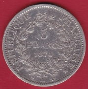 France 5 Francs Hercule 1874 K - France