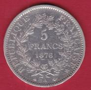 France 5 Francs Hercule 1876 A - J. 5 Francs