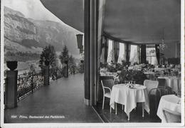 SVIZZERA - RISTORANTE DEL PARCO HOTEL - FLIMS - B/N ANNI '50 - VIAGGIATA 1954 FRANCOBOLLO ASPORTATO - Ristoranti