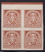 ÖSTERREICH 1920 ANK 304x  BLOCK OF 4   MH* - Ungebraucht