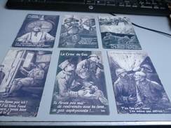 6 CARTES POSTALES HUMORISTIQUES PAROLES DE POILUS - 1914-18