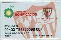 Gas Oil BP Petroleum Card - Limited Edition Football Team Sevilla FC - Telefonkarten