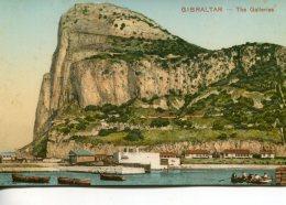 GIBRLATAR - The GalleriesRock From Algeciras - Glazed Colour Postcard - Nicely Aniated - Gibraltar
