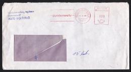 Germany: Cover, 1988, Meter Cancel, Bundeswehr, German Army, Military Location Ingolstadt (damaged, See Scan) - Brieven En Documenten