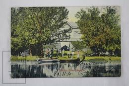 Old Postcard 1919 Postcard Santiago De Chile - Parque Cousino - Animated - Boats On The Lake - Park - Chile