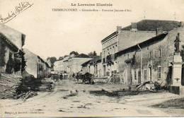 CPA - TREMBLECOURT (54) - Aspect De La Grande Rue Et De La Fontaine Jeanne-d'Arc En 1914 - Francia