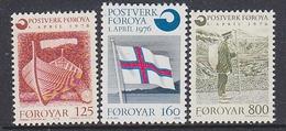 Faroe Islands 1976 Gründung Färoischen Postwesen 3v ** Mnh (35198F) - Faeroër