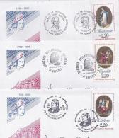 France - 3 Enveloppes Philatéliques (1bis) - FDC