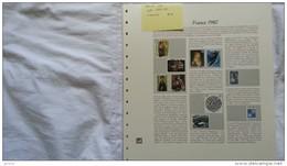 Feuilles Pré-imprimées Album De France 1980 (année Complète) Système SAFE DUAL AVEC PLAQUETTES COULEUR ETAT NEUF - Albums & Reliures