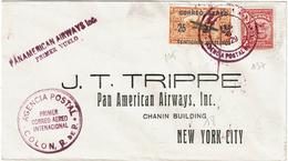 LMON1 - PANAMA PREMIER VOL PANAMERICAN AIRWAYS COLON / NEW YORK 9/2/1929 - Panama