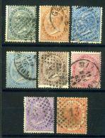 ITALIE  ( POSTE ) : Y&T  N° 14/21  BELLE  SERIE  DE  TIMBRES  BIEN  OBLITERES , A  VOIR . - 1861-78 Victor Emmanuel II