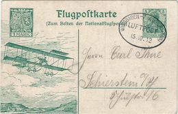 LMON1 - ALLEMAGNE VOLS ENTRE WIESBADEN ET FRANKFURT ET RETOUR 12 - 15 - 22 / 10 / 1912 PAR L'AEROPLANE D' EULER - Germany