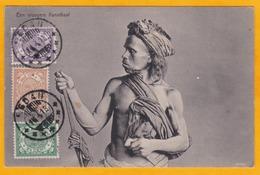 "1913 - CP De Medan, Sumatra, Indes Néerlandaises Vers Anvers, Belgique - Affrt 5 Cent - Vue Un ""ancien Cannibale"" - Niederländisch-Indien"