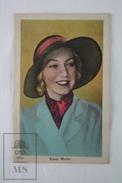 Old Trading Card / Chromo Topic/ Theme Cinema/ Movie Actress: Karen Morley - Documentos Antiguos