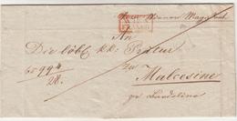 Wien To Malcenise. Piego Di Lettera In Franchigia Senza Cont. 1833 - ...-1850 Vorphilatelie