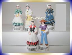 Costumes Poitou-Charente  ..lot  De 6 Fèves...Ref AFF : 95-2004 ..(pan 0010) - Regions