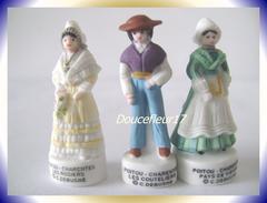 Costumes Poitou-Charente  ..lot  De 3 Fèves...Ref AFF : 95-2004 ..(pan 0010) - Regions