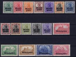 Deutsche Reich: Memel Mi Nr 1 - 17 MNH/**/postfrisch/neuf Sans Charniere  1920 - Klaipeda