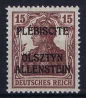 Deutsche  Allenstein Mi Nr 4 I B MNH/**/postfrisch/neuf Sans Charniere  BBP Geprüft - Coordination Sectors