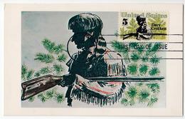 Davy Crockett MC 1967 Bb170325 - Cartoline Maximum