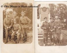 WWI - MONUMENT AUX MORTS REGIMENT D INFANTERIE VON DER TANN 1805 1905 - LOT DE 2 CARTES PHOTOS - MILITAIRE - ALLEMAND - Guerre 1914-18