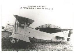 PHOTO AVION POTEZ SEA AERODROME BOURGET N°58  12X18CM  RETIRAGE - 1939-1945: 2nd War