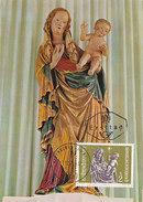 D29558 CARTE MAXIMUM CARD 1972 AUSTRIA - MADONNA SCULPTURE CP ORIGINAL - Scultura